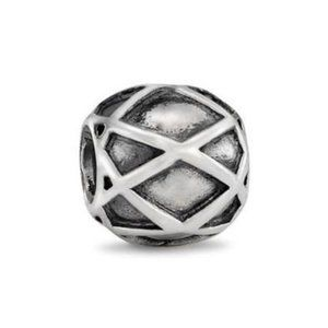 RETIRED! Pandora Cris Cross Charm 790165